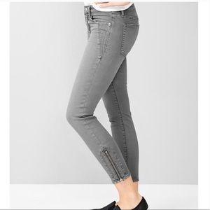 GAP 1969 Moto Zip Always Skinny Jeans size 27